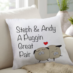 Puggin Pair Throw Pillow