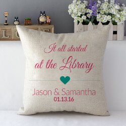 Where It All Started Throw Pillow