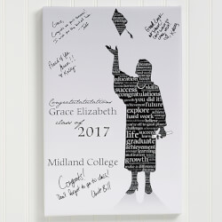 Graduation Guestbook Custom Art..