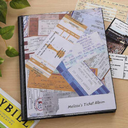 Personalized Ticket Stub Scrapbook..