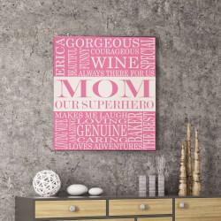 Personalized Superhero Mom Canvas