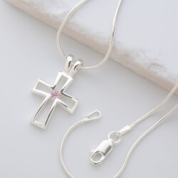 Silver Christian Cross Necklace..