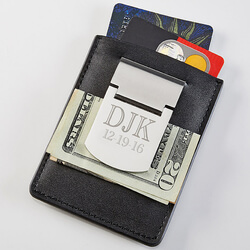 Personalized Money Clip Credit..
