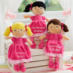 Pretty Pink Embroidered Doll -..