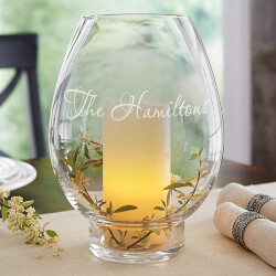 Hurricane Candle Holder - Engraved..