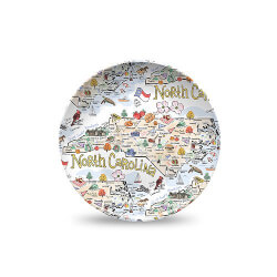 Fish Kiss: State Map Plate - North..