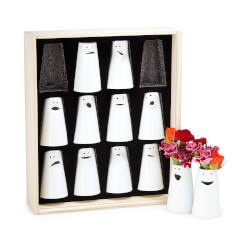 Porcelain Personality Vases - Set..