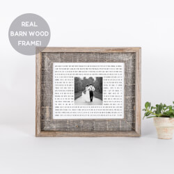 Song Lyric & Photo Print In Barn..