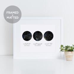 3 Sky Constellation Map Framed Print