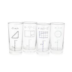 Mathematical Glasses - Set Of 4
