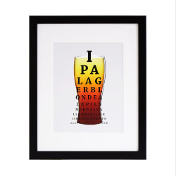 Beer Exam Art Print