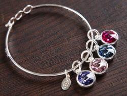 Float Jewelry: Crystal Birthstone..