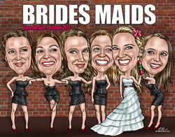 Hand Drawn Bridesmaids Gift..