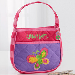 Girls Personalized Butterfly Purse..
