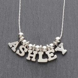 Personalized Silver Necklace - 5-8..