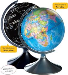 World & Constellation Globe