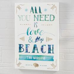 Love & The Beach 12x18..