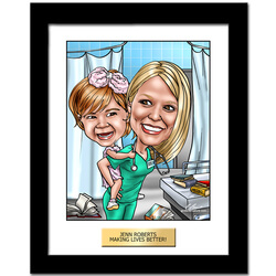 Hand Drawn Caricatures For Nurses