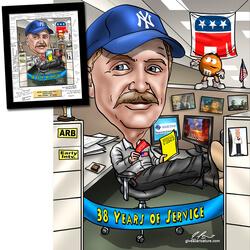Retirement Gift Caricature - Hand..
