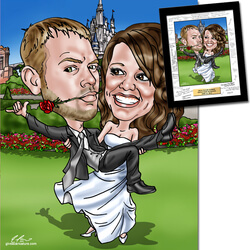 Hand Drawn Wedding Caricature From..