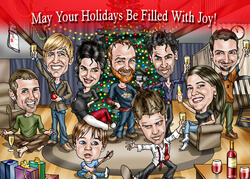 Hand-Drawn Christmas Caricature -..