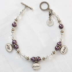 Personalized Charm Bracelet - Joy,..