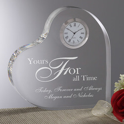 Personalized Romantic Glass Heart..