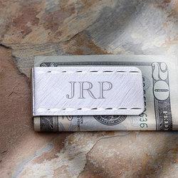 Personalized Silver Money Clip -..