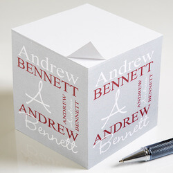 Personalized Sticky Note Cubes -..