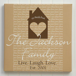Personalized Canvas Art 20x20 -..