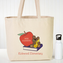 Personalized Teacher Tote Bags -..