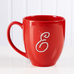 Personalized Red Bistro Coffee Mug..
