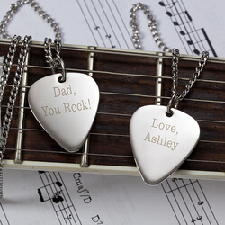 Personalized Silver Guitar Pick..