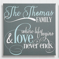 Family Quote 16x16 Personalized..