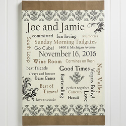 Personalized Wedding Gift Canvas..