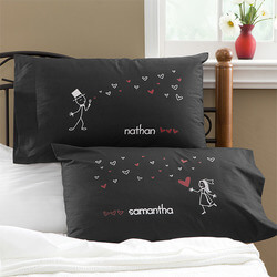Personalized Newlywed Pillowcases..