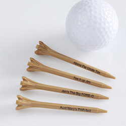 Custom Golf Tees - Natural Wood -..