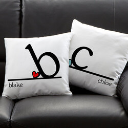 Personalized Throw Pillows - Heart..
