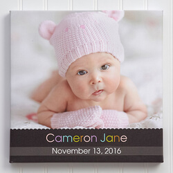 Baby Photo Canvas Print 20x20 -..