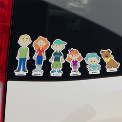 Personalized Family Car Decals -..