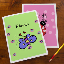 Personalized Girls School Folders..