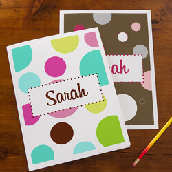 Personalized Folders For Girls -..