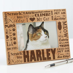 Personalized Cat Picture Frames -..