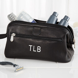 Personalized Toiletry Bag - Black..