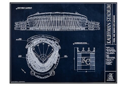 Stadium Blueprint Style Print