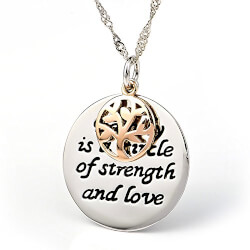 Family Tree Love Message Necklace